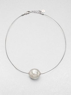 Majorica - 22MM Baroque Pearl Wire Necklace