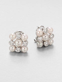 Majorica - 5MM-6MM Pearl Earrings