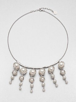 Majorica - 6MM, 8MM and 14MM Pearl Bib Necklace