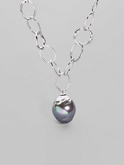 Majorica - 22MM Grey Baroque Pearl Necklace