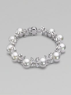 Majorica - 10MM White Pearl Butterfly Bracelet