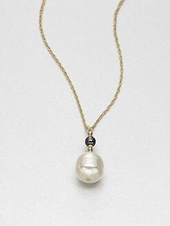 Majorica - 16MM White Baroque Pearl Pendant Necklace