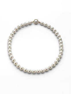 Majorica - 10MM White Round Pearl Necklace/18