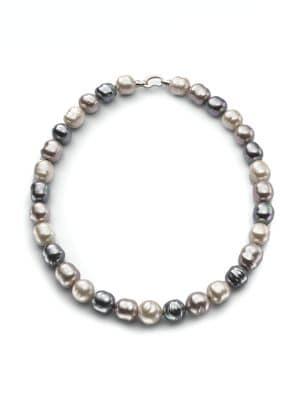 "14MM Multicolor Baroque Pearl & Sterling Silver Strand Necklace/20"""