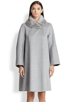 Max Mara - Fur-Collar Cashmere Coat
