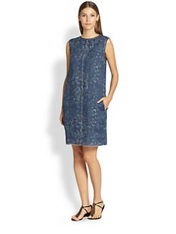 MaxMara - Damask-Print Shift Dress