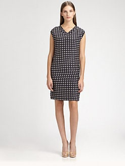 MaxMara - Check Printed Dress