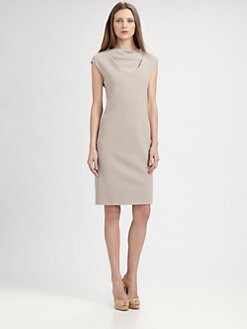 MaxMara - Uovo Drape Front Dress
