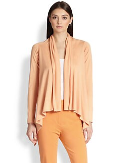 MaxMara - Pineta Silk & Cotton Draped Cardigan
