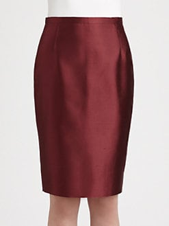 MaxMara - Gervaso Shantung Pencil Skirt