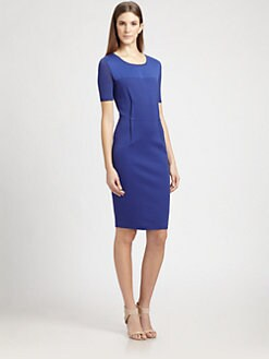 MaxMara - Silk-Trimmed Cotton Jersey Dress