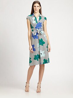 MaxMara - Cotton Poplin Floral Dress