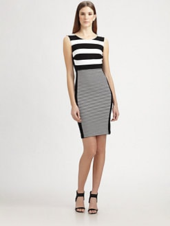 MaxMara - Stripe-Front Jersey Dress