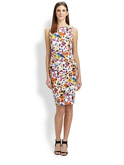 MaxMara - Floral Print Stretch Cotton Dress
