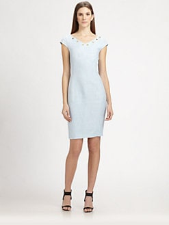 MaxMara - Grommet-Trimmed Dress