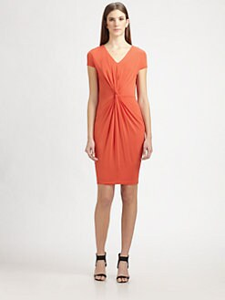 MaxMara - Knot-Front Jersey Dress