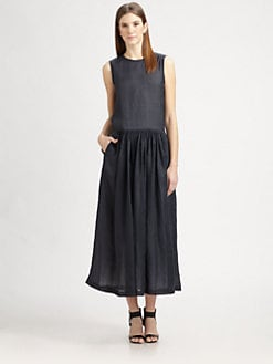 MaxMara - Ramie Maxi Dress