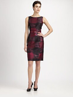 MaxMara - Belted Printed Dress
