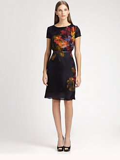 MaxMara - Augusto Printed Silk Dress