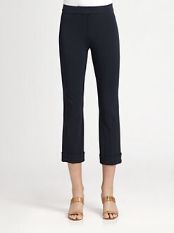 MaxMara - Plava Cropped Jersey Pants