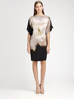 MaxMara - Silk Flower Tunic Dress