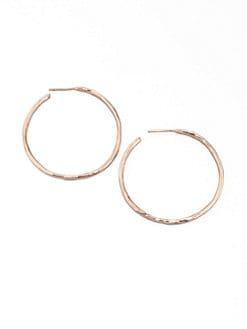IPPOLITA - Rose #3 Hammered Hoop Earrings/1.75
