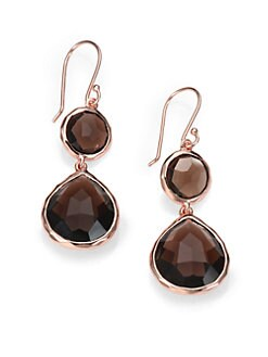 IPPOLITA - Smokey Quartz Rosé Snowman Earrings