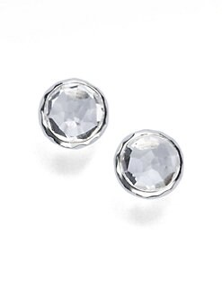 IPPOLITA - Sterling Silver Clear Quartz Stud Earrings