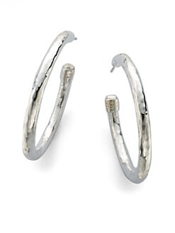 IPPOLITA - Hammered Sterling Silver Hoop Earrings