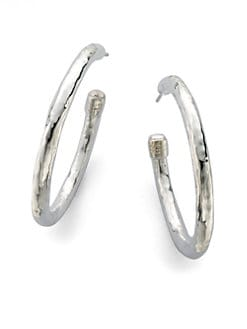 IPPOLITA - Hammered Sterling Silver Hoop Earrings/1.75