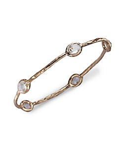 IPPOLITA - Rose 5-Stone Clear Quartz Bangle Bracelet