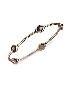 IPPOLITA - Rose 5-Stone Smokey Quartz Bangle Bracelet