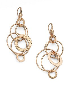 IPPOLITA - Rose Hammered Jet Set Earrings