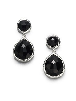 IPPOLITA - Black Onyx Sterling Silver Snowman Drop Earrings