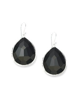 IPPOLITA - Black Onyx & Sterling Silver Large Teardrop Earrings