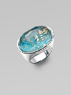 IPPOLITA - Bronze Turquoise, Clear Quartz and Sterling Silver Ring
