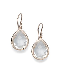 IPPOLITA - Rose Teardrop Clear Quartz Earrings