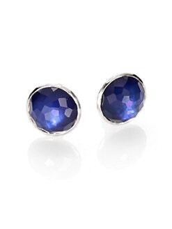 IPPOLITA - Quartz Doublet & Sterling Silver Clip-On Button Earrings