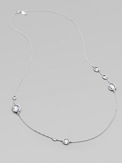 IPPOLITA - Long Sterling Silver Quartz Station Necklace