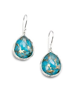 IPPOLITA - Bronze Turquoise and Sterling Silver Earrings