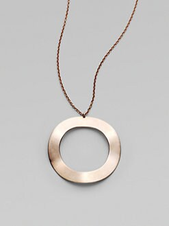 IPPOLITA - Rose Wavy Circle Long Pendant Necklace