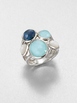 IPPOLITA - Clear Quartz & Mother-Of-Pearl Cluster Ring