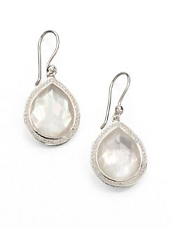 IPPOLITA - Mother-Of-Pearl Doublet, Diamond & Sterling Silver Drop Earrings