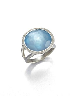 IPPOLITA - Diamond, Swiss Blue Topaz and Sterling Silver Ring