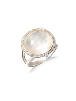 IPPOLITA - Mother-Of-Pearl Doublet, Diamond & Sterling Silver Ring