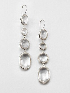 IPPOLITA - Clear Quartz & Sterling Silver Linear Drop Earrings