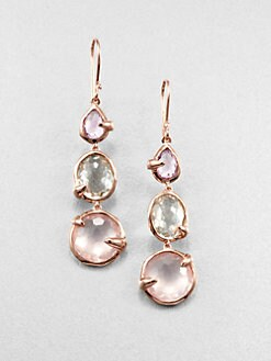 IPPOLITA - Rose 3-Stone Bloom Drop Earrings