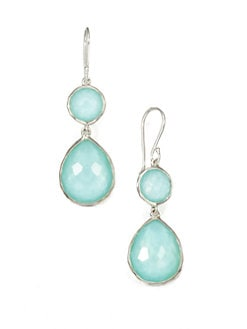 IPPOLITA - Clear Quartz & Mother-Of-Pearl Snowman DropEarrings
