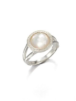 IPPOLITA - Diamond, Mother-of-Pearl and Sterling Silver Ring