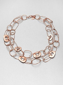 IPPOLITA - Rose Double Strand, Multi-Square Necklace